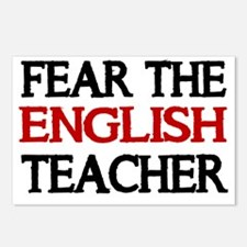 FEAR THE ENGLISH  TEACHER Postcards (Package of 8)