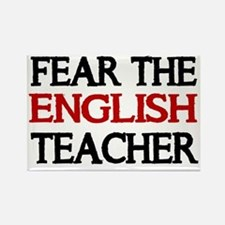 FEAR THE ENGLISH  TEACHER 2 Rectangle Magnet