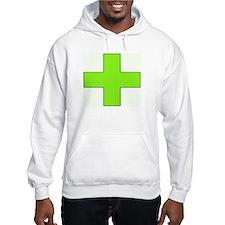 Neon Green Medical Cross Hoodie