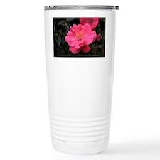 Pink Rose with water dr Travel Mug