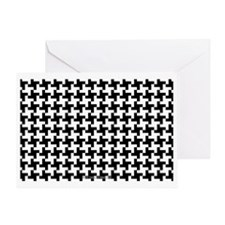 Retro Houndstooth Vintage Black Greeting Card