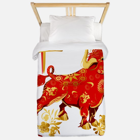 Year Of The Ox-dates Twin Duvet