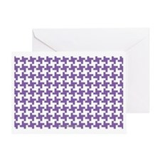 Retro Houndstooth Vintage Purple Greeting Card