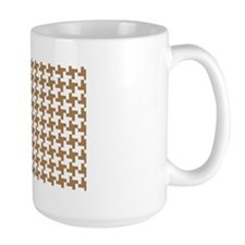 Retro Houndstooth Vintage Khaki Mug