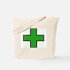 Green Medical Cross (Bold) Tote Bag