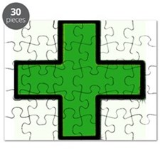 Green Medical Cross (Bold) Puzzle