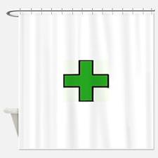 Green Medical Cross (Bold) Shower Curtain