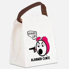 Alarmed Clock Canvas Lunch Bag