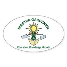 Master Gardener Logo02 Oval Decal
