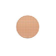 Retro Houndstooth Vintage Orange Mini Button