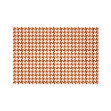Retro Houndstooth Vintage Orange Rectangle Magnet