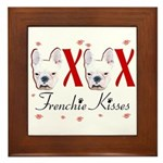 Frenchie Kisses OXOX Framed Tile