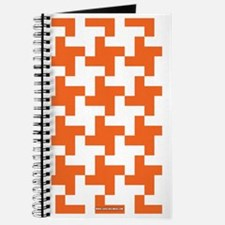 Retro Houndstooth  Vintage Orange Journal