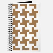 Retro Houndstooth  Vintage Khaki Journal