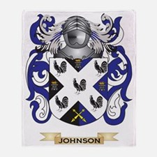 Johnson Coat of Arms (Family Crest) Throw Blanket