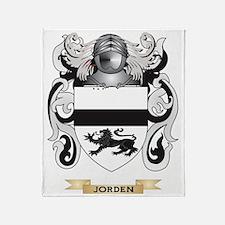 Jorden Coat of Arms (Family Crest) Throw Blanket