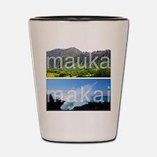 Mauka Makai Hawaii Print Shot Glass