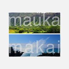 Mauka Makai Hawaii Print Throw Blanket