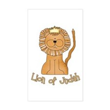 Lion of Judah Rectangle Decal