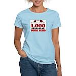 1,000-POUND TOTAL CLUB! Women's Pink T-Shirt
