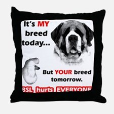 Saint BSL2 Throw Pillow
