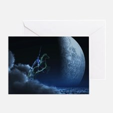 Knight in ghostly armor Greeting Card