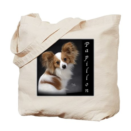 Papillon Puppy Tote Bag