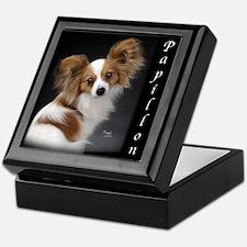 Papillon Puppy Keepsake Box
