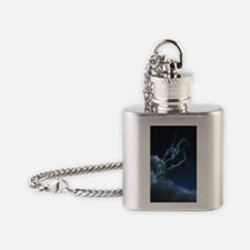 Knight in ghostly armor Flask Necklace