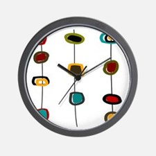 MCM Art 99 Shower curtain Wall Clock