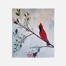 Sweet Red Cardinal Throw Blanket