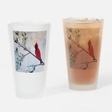 Sweet Red Cardinal Drinking Glass