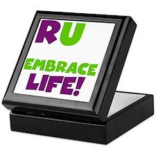 Run and Embrace Life Purple Green Keepsake Box
