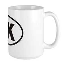 UK United Kingdom Euro Oval Sticker Mug