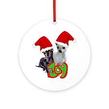Chihuahua Christmas Round Ornament