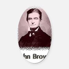 John Brown w text Oval Car Magnet