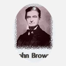 John Brown w text Oval Ornament