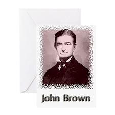 John Brown w text Greeting Card