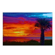 Painted Sunset Sky With P Postcards (Package of 8)