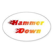 Hammer Down Oval Decal
