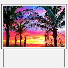 Captiva Island Sunset Palm Tree Yard Sign