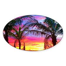 Captiva Island Sunset Palm Tree Decal