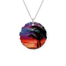 Deep Purple Captiva Sunset S Necklace Circle Charm