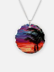 Deep Purple Captiva Sunset S Necklace Circle Charm