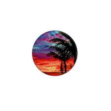 Deep Purple Captiva Sunset Sky Mini Button