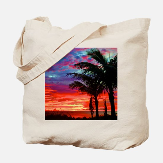 Deep Purple Captiva Sunset Sky Tote Bag