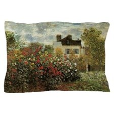 Claude Monet's Garden at Argenteuil Pillow Case