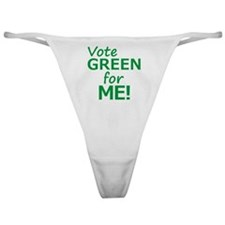 Vote Green 4 Me Classic Thong