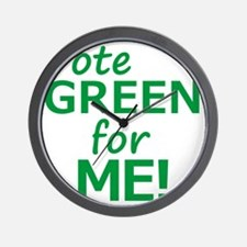 Vote Green 4 Me Wall Clock