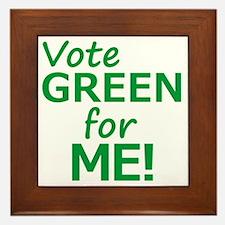 Vote Green 4 Me Framed Tile